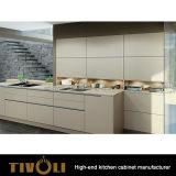 白く光沢度の高いラッカー終わりTivo-0281hを用いる台所食料貯蔵室のキャビネット