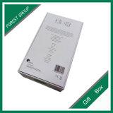 까만 로고에 의하여 인쇄되는 매트 박판 백색 상자