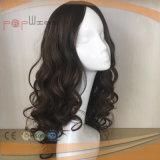 PU personalizada superior de seda del pelo humano de la peluca de las mujeres (PPG-l-0658)
