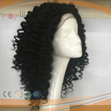 2.5cm Tight Curly off Black fill hand Tied humanly Virgin Remy Hair fill Lace TIG