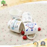 Colore bianco di ceramica poco costoso della tazza 14oz del tè del caffè della fabbrica del Hunan con la bella decalcomania