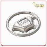 Keychain feito sob encomenda do metal da roda de direção do logotipo do estilo creativo