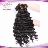 Cabelo malaio de Remy da onda frouxa 100% Curly bonita do cabelo do Virgin