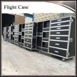 Kundenspezifischer haltbarer Hochleistungsflug-Aluminiumfall mit Fächern