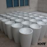 Bacias de lavatório de pedestais autônomos de mármore sólido