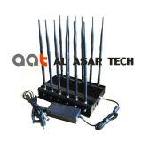 12 Stoorzender van het Signaal Cellphone/GPS/4G/WiFi van de Macht van banden de Regelbare Krachtige, de Mobiele Stoorzender van het Signaal van de Telefoon/Blocker van het Signaal