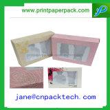 装飾的な香水のPVC Windowsが付いている装飾的なスキンケア及びクリーム色の包装ボックス