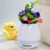 POT di fiore astuto dei Flowerpots LED di musica di compleanno di tocco dell'interno all'ingrosso del regalo mini con la lampada variopinta e l'altoparlante di Bluetooth
