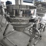 Aquecimento de vapor do aço inoxidável que cozinha a chaleira com agitador