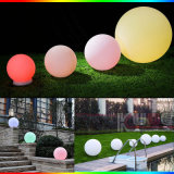 Cambio de color LED lámpara decorativa de bola flotante para jardín