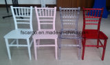 아이 수정같은 투명한 Chiavari 의자 (크롬 003S)