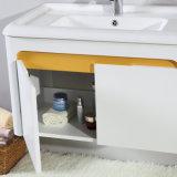 Matt White Paint madera resistente al agua Gabinete de baño Muebles