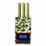 2017 Latest LCD Screen 6-Antenas Jammer portátil para celular Jammer GPS WiFi Lojack Jammer