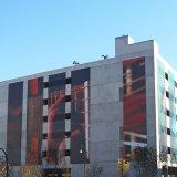 Tadellos entsprochene Bild-Ineinander greifen-Fahnen-Verpackungen für Gebäude-Front-Fahne
