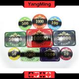 Hochwertiges Kronen-Schürhaken-Chipset/kundenspezifisches Plastikacrylkasino-Chipset mit Aluminiumfall Ym-Scma003
