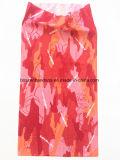 工場農産物カスタムロゴによって印刷されるピンクポリエステル首の管状のスカーフ