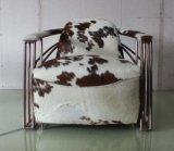 銅のステンレス鋼の管のArmrestの椅子、革靴の革居間の椅子Yh-315