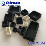 De ronde en Vierkante Zwarte Kappen van het Eind van de Voeten van het Meubilair Plastic