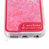 iPhone 7のためのLEDが付いているカスタマイズされたパターン流砂の箱