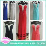 Ladies Beaded Embroidery Elegante Decorado Halter Decote longo vestido de noite formal