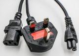 Cabo de extensão BRITÂNICO para o cabo de potência BRITÂNICO da C.A. da extensão do mag do cabo distribuidor de corrente do cabo 1.8m do carregador de Apple