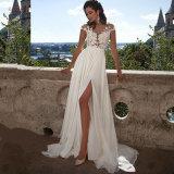 Крышка Sleeves платье вечера E17922 Bridal мантий выпускного вечера партии шифоновое