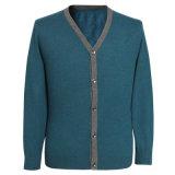 Yak di Bn 1408men's e maglione lavorato a maglia cardigan del lusso mescolato lane V Nect