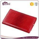 Madame se pliante Purse de crocodile de pochette de femmes de fabrication de Fani de peau de cuir de pochette de type rouge de circuit