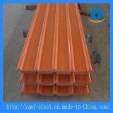 Toiture métallique en acier ondulé colorés feuilles pour le revêtement en acier du bâtiment