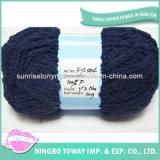Черный толщиной шарф зимы DIY акриловую пряжу шерстей