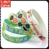 Lustiges kundenspezifisches Silikon-Gummi-Armband mit Firmenzeichen