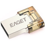 Eaget V80 64GB metal OTG USB 3.0 Flash Drive 64 GB Pendrives Pen Drive con cifrado OTG para Android Smartphone
