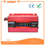 Affichage LCD Suoer DC 12V à l'AC 220V Voiture Solar Power Inverter 500 Watts (SDB-500A)