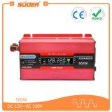 C.C. 12V de la visualización de Suoer LCD a los vatios del inversor 500 de la energía solar del coche de la CA 220V (SDB-500A)