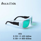 Los anteojos de la protección de ojo del laser certificaron la protección del laser con los anteojos de las gafas de seguridad de la protección del precio de fábrica para los lasers rojos, diodos 808nm