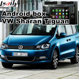 Video interfaccia di percorso Android per il VW Tiguan, Sharan, percorso di tocco di aggiornamento di Passat (MQB), WiFi, BT, Mirrorlink, HD 1080P, programma di Google, memoria del gioco