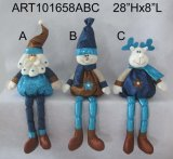 Long Legged Santa, Snowman e Moose Sitter Decoration-3astst