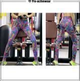 Roupa Poliéster Spandex Yoga Calças Print Exercise Running Tights