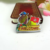 OEM Camel Design Tunísia Metal Foil Fridge Magnet