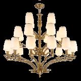 Neuer Entwurfs-Eisen-Leuchter mit Glasfarbton-Beleuchtung-Befestigung für Haus (SL2276-8)