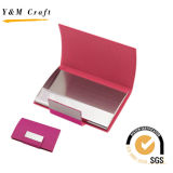 Presentes promocionais PU Leather Business ID Credit Name Card Holder