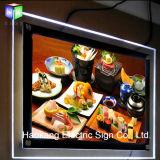 De reclame van de Acryl LEIDENE Doos van de Verlichting met het Frame van de Foto van het Kristal voor het Magnetische Licht van het Beeld