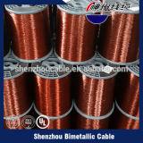 Fios de alumínio folheados de cobre esmaltados