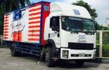 Camion pesante di Isuzu 6X4 con il corpo del vento di Hydarulic