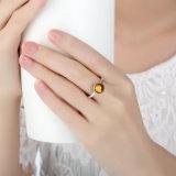 Ring van de Halfedelsteen van het Glas van de Kleur van de Juwelen van de manier Tibetan Zilveren
