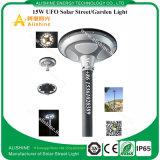 Luzes solares Integrated ao ar livre do jardim do UFO do brilho elevado 15W