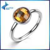 Anello di vetro della pietra preziosa di colore d'argento tibetano dei monili di modo