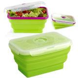 De Opvouwbare Kom van het Silicone van de Rang van het voedsel, de Hittebestendige Container van het Voedsel, de Opslag van het Voedsel