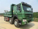 주식에 있는 Sinotruk HOWO A7 371HP 8X4 팁 주는 사람 덤프 트럭
