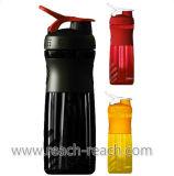 Botella de agua de los deportes, botella plástica de la coctelera del mezclador de la proteína (R-S045)